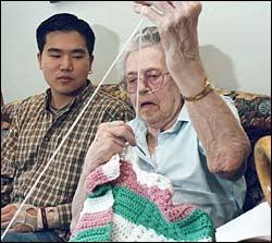 Eugene Kim and Bertha Nadeau