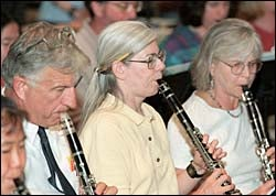Clarinet section of Pops Band