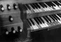 Photo of Divinity Hall organ, pre-restoration