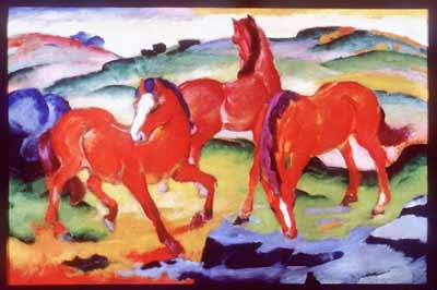 "Franz Marc's ""Grazing Horses IV"""