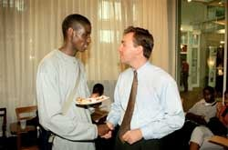 Photo of Victor Akukwe with John Kendzior