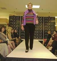 Delaney-Smith in fashion show