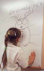 Child drawing bug