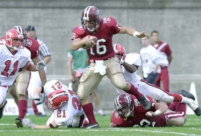 Quarterback Neil Rose of the Harvard Crimson