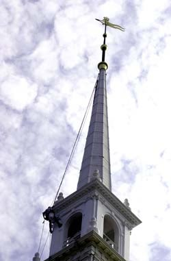 Photo of Memorial Church steeple