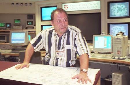 Jay Tumas at the UIS Operations Center