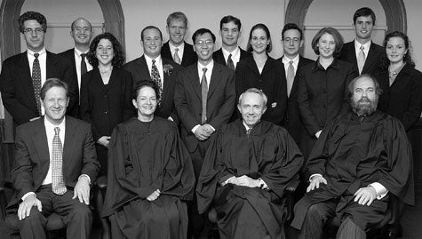 Supreme Court justices and students