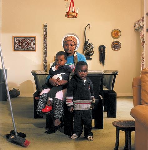 Photograph of Victoria Cobokana with children