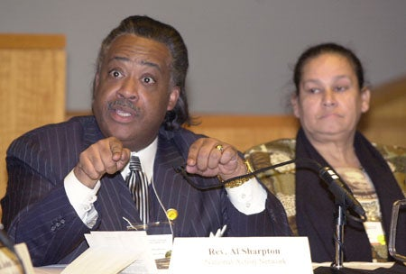 Photo of Rev. Al Sharpton and Iris Baez