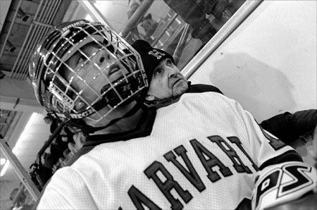 Tony Grasso and hockey player