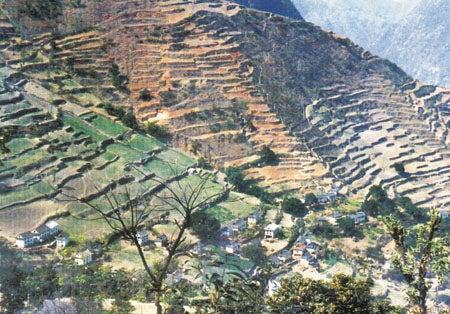 Village of Dhulakiel in Nepal