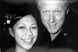 Minh-Chau Le and President Bill Clinton