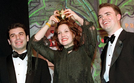 Drew Barrymore, Michael Roiff and Christoper Hans