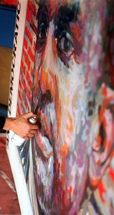 Brett Cook-Dizney painting