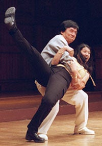 Jackie Chan and Wendy Caceres