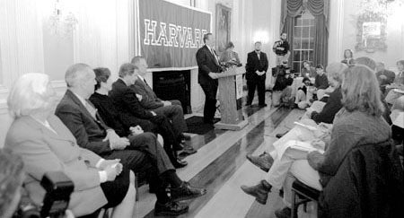 Lawrence H. Summers at press conference