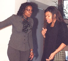 Students Tanisha McKibben and Rayshawanda Germany