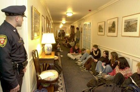 Students in Massachusetts Hall