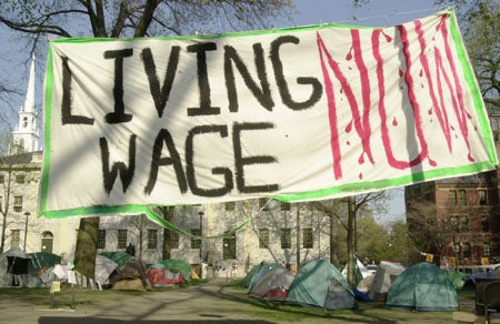 Living Wage protests