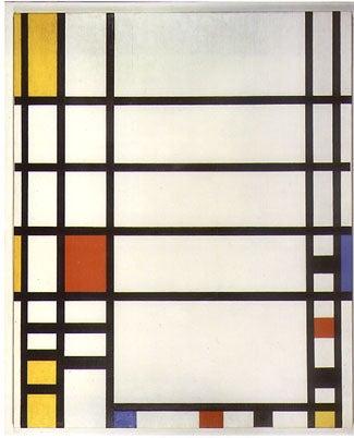 Mondrian painting