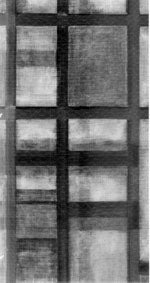 X-radiograph of Mondrian painting