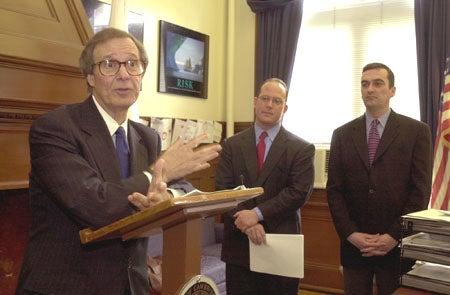 Neil L. Rudenstine, Anthony Galluccio and David Maher