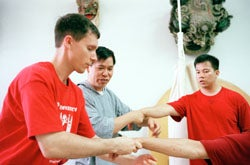Master Yon Lee, Ed Landakeer and Khin Tung