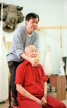 Master Yon Lee and Ven. Geshe Tsulga