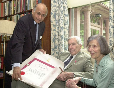Lalit Mansingh, John Kenneth Galbraith and Kitty Galbraith