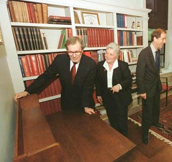 Neil Rudenstine with Nancy Cline