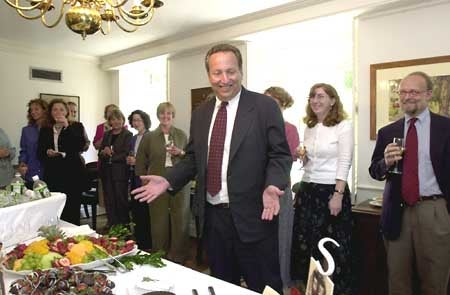 Larry Summers and staff at Mass Hall