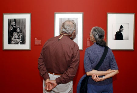 People at Fogg exhibition