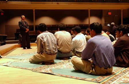 Lawrence H. Summers and Muslims at prayer