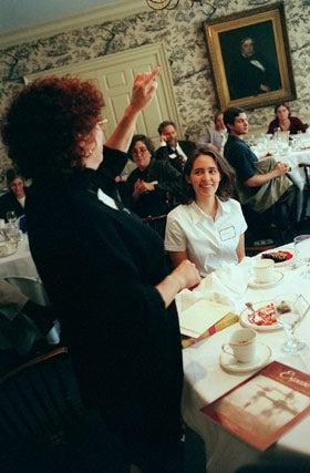 Jane Sylvester toasts Ashley Isaacson
