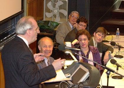 Judah Folkman, Dudley R. Herschbach, Barbara J. Grosz, Lene Hau, Andrew Murray and Edward O. Wilson