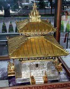 model of Buddhist temple