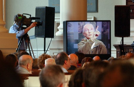Jane Goodall, via satellite