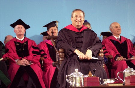 Lawrence H. Summers at Installation ceremony