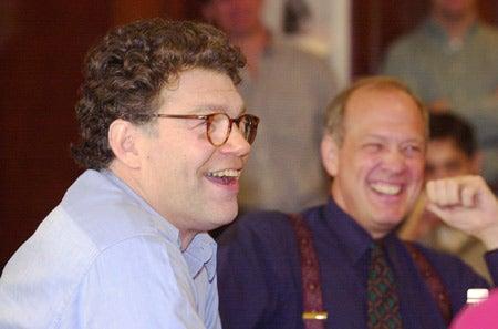 Al Franken and Alex Jones