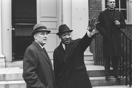 President Nathan Pusey with Rev. Martin Luther King, Jr.