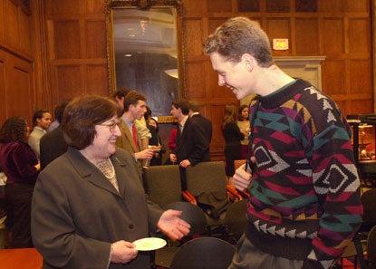 Helen Vendler and Philip Matchett