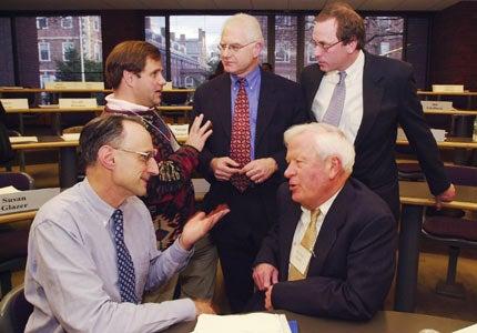 Michael A. Sullivan, Manny Stefanakis, Charles Euchner, Nicolas Retsinas and Robert Healy