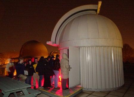 Visitors at observatory