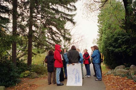 Students at Mt. Auburn Cemetary