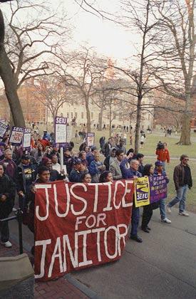 Rally in Harvard Yard