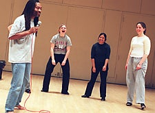 Bobby McFerrin with students