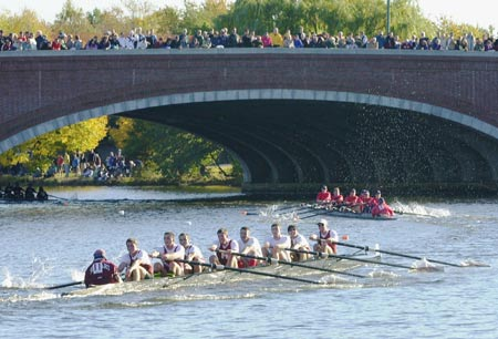 Harvard crew at the Head of the Charles