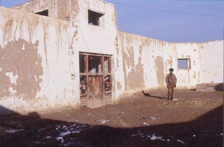 Outside Sherbarghan prison
