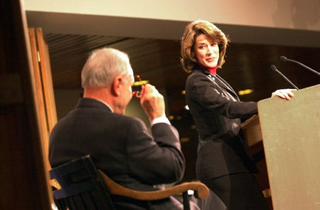 David Pryor with Katherine Harris