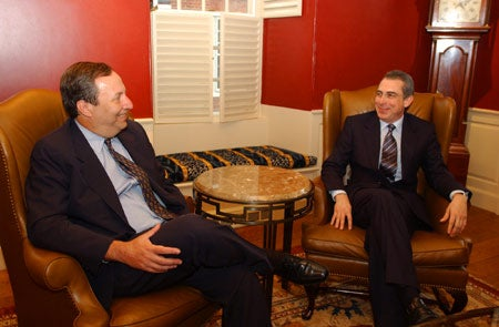 Ernesto Zedillo with Lawrence Summers